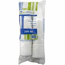 Ποτήρια πλαστικά PP λευκά 180ml (100τεμ.)