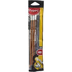 Μολύβια MAPED black'peps ΗΒ (3τεμ.)