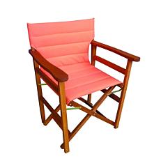 Πολυθρόνα σκηνοθέτη με ενιαίο πορτοκαλί πανί