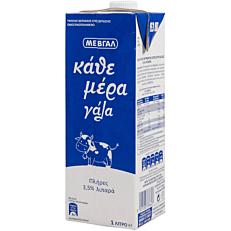 Γάλα ΜΕΒΓΑΛ Κάθε μέρα γάλα υψηλής παστερίωσης πλήρες 3,5% λιπαρά (1lt)