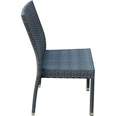 Καρέκλα MIMOSA GARDEN μεταλλική rattan στοιβαζόμενη γκρι