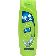 Σαμπουάν και μαλακτική κρέμα WASH & GO 2 σε 1 classic (400ml)