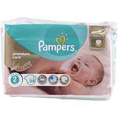 Πάνες PAMPERS Premium Care No.2, 3-6kg (38τεμ.)