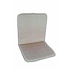 Μαξιλάρι πολυθρόνας με χαμηλή πλάτη γκρι (2τεμ.)
