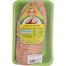 Ρολό κοτόπουλο ΑΜΒΡΟΣΙΑΔΗ γεμιστό νωπό συσκευασμένο εγχώριο (~1,5kg)