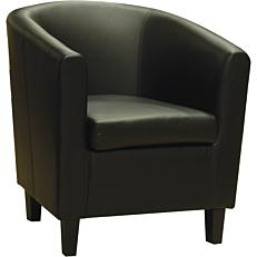 Πολυθρόνα Pu μαύρη 71x74x79cm
