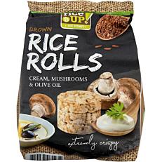 Ρυζογκοφρέτα RICE UP Brown Rice Rolls μανιτάρια και ελαιόλαδο (50g)