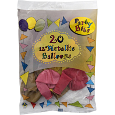 Μπαλόνια σε διάφορα χρώματα 26cm (20τεμ.)