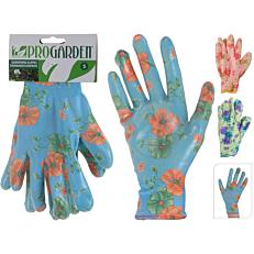 Γάντια κήπου χρωματιστά με 3 σχέδια (25,5lt)