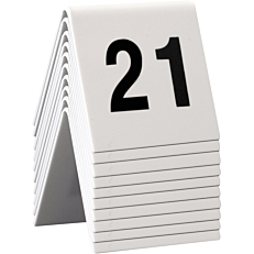 Ταμπελάκι αρίθμησης τραπεζιών SECURIT, 21-30