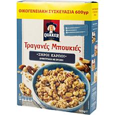 Δημητριακά QUAKER τραγανές μπουκιές βρώμης με ξηρούς καρπούς (600g)