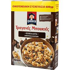 Δημητριακά QUAKER τραγανές μπουκιές βρώμης με σοκολάτα υγείας (600g)