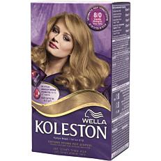Βαφή μαλλιών WELLA Koleston ξανθό ανοιχτό no.8/0 με κρέμα αναζωογόνησης χρώματος (50ml)