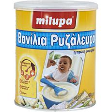 Παιδική κρέμα MILUPA βανίλια με ρυζάλευρο (300g)