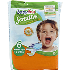 Πάνες BABYLINO Sensitive No.6, 15-30kg (15τεμ.)
