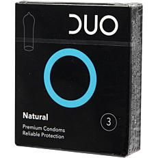 Προφυλακτικά DUO Natural (κανονικά) (3τεμ.)