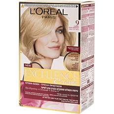 Βαφή μαλλιών L'OREAL excellence ξανθό πολύ ανοιχτό no.9