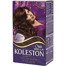 Βαφή μαλλιών WELLA Koleston ακαζού no.5/5 με κρέμα αναζωογόνησης χρώματος (50ml)