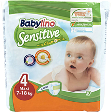 Πάνες BABYLINO Sensitive No.4, 7-18kg (20τεμ.)