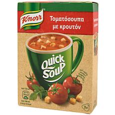 Σούπα σε σκόνη KNORR Quick Snack τοματόσουπα με κρουτόν (57g)