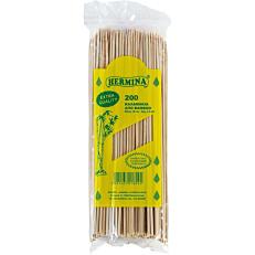 Καλαμάκια HERMINA ξύλινα 215x3mm (200τεμ.)