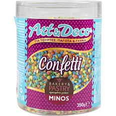 Προϊόντα ζαχαροπλαστικής MINOS confetti, art & deco (350g)