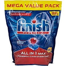 Απορρυπαντικό FINISH all in 1 πλυντηρίου πιάτων λεμόνι, σε κάψουλες (85τεμ.)