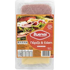 Πάριζα και τυρί edam BUENAS σε φέτες (360g)