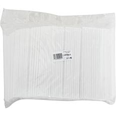 Καλαμάκια ίσια λευκά 180x4mm (1000τεμ.)