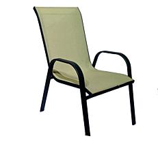Πολυθρόνα MIMOSA GARDEN μαύρη, κρεμ