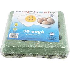Αυγά ΑΥΓΟΜΑΝΙΑ φρέσκα μεσαία (30x53-63g)