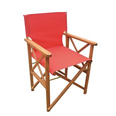 Πολυθρόνα σκηνοθέτη με ενιαίο κόκκινο πανί