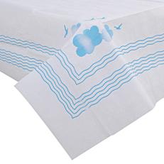 Τραπεζομάντηλα YELLOW λευκά με μπλε σχέδια 1x1m (100τεμ.)