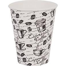 Ποτήρια χάρτινα με σχέδιο coffee latte 14oz (50τεμ.)