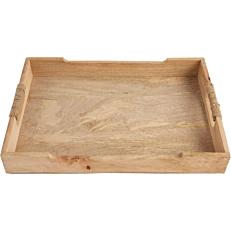 Δίσκος σερβιρίσματος ξύλινος αντιολισθητικός 30x20cm (3τεμ.)