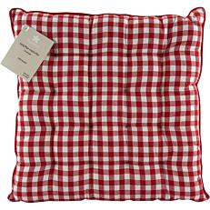Μαξιλάρι καρέκλας YASEMI βαμβακερό κόκκινο 40x40cm