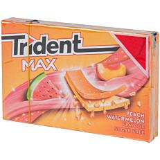 Τσίχλες TRIDENT Max peach watermelon καρπούζι ροδάκινο (23g)