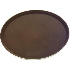Δίσκος σερβιρίσματος αντιολισθητικός καφέ 40,5cm