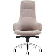 Πολυθρόνα γραφείου γκρι υφασμάτινη