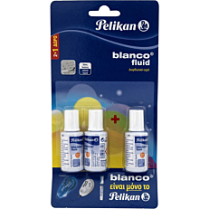 Διορθωτικό PELIKAN υγρό σε μπουκαλάκι (2+1τεμ.)
