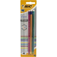 Μολύβια BIC με γόμα evolution (3τεμ.)