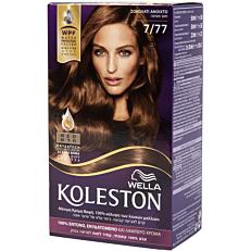 Βαφή μαλλιών WELLA Koleston σοκολατί ανοιχτό no.7/77 με κρέμα αναζωογόνησης χρώματος (50ml)