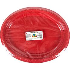 Πιατέλες PS πλαστικές μονόχρωμες οβάλ κόκκινες, μπλε (8τεμ.)