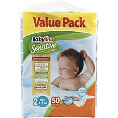 Πάνες BABYLINO Sensitive No.2, 3-6kg (50τεμ.)