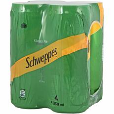Αναψυκτικό SCHWEPPES σόδα ginger ale (4x330ml)