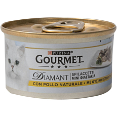 Τροφή GOURMET diamant γάτας με κοτόπουλο (85g)
