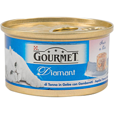 Τροφή GOURMET diamant γάτας με φιλετάκια τόνου (85g)