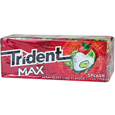 Τσίχλες TRIDENT Max splash strawberry lime (1τεμ.)