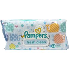Μωρομάντηλα PAMPERS  fresh clean (64τεμ.)