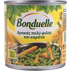 Κονσέρβα BONDUELLE αρακάς πολύ ψιλός και καρότα (385g)